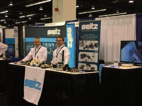 Seitz on dislay at the 2015 Pacific Design and Manufacturing Show