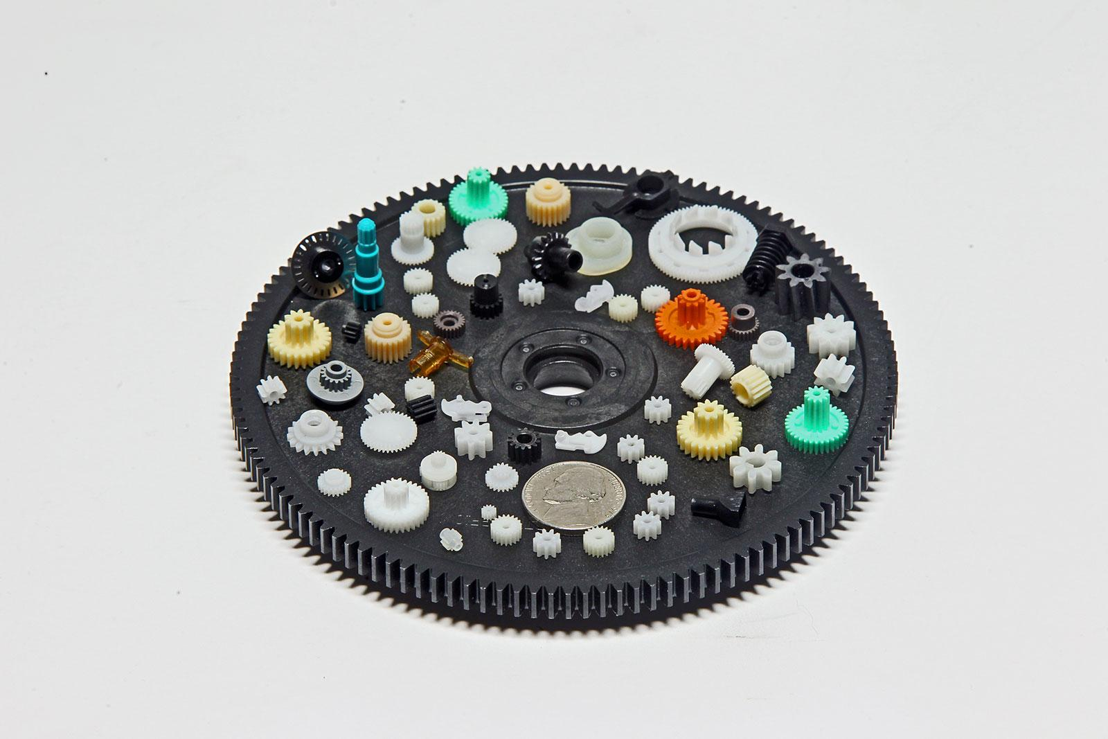 Minature plastic injection molded gears